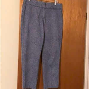 Medium blue with white dots cropped pants
